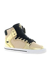 Supra Vaider Gold High Top Trainers