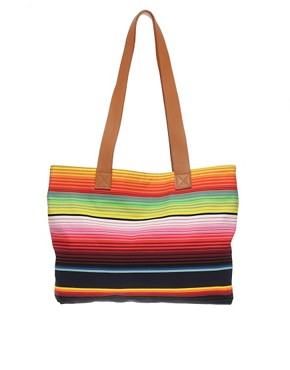 Image 1 of House Of Holland Multi Stripe Shopper Bag