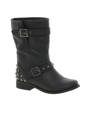 Image 1 ofNew Look Boisterous Studded Biker Boots