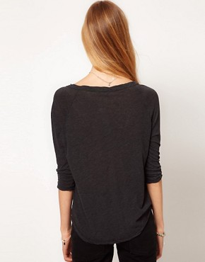 Image 2 ofJames Perse Curved Hem Raglan T-shirt