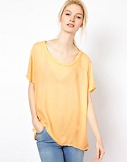 American Vintage T-Shirt with Twisted Neckline