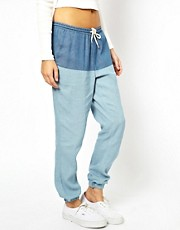 ASOS PETITE Exclusive Denim Look Trousers