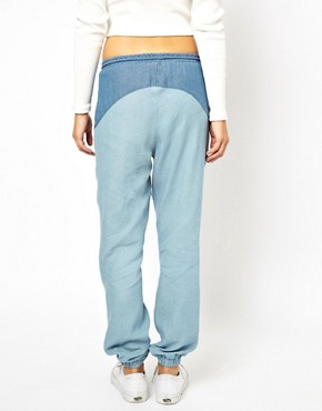 Image 3 ofASOS PETITE Exclusive Denim Look Trousers
