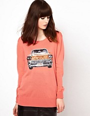 Markus Lupfer Sequinned Car Knitted Jumper