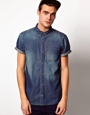 Image 1 ofRiver Island Denim Shirt