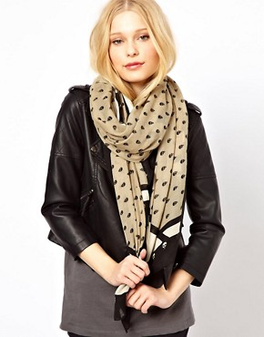 Image 1 ofRiver Island Mini Skulls Long Pashmina Scarf
