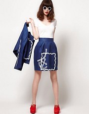The Rodnik Band Anchor Print Skirt