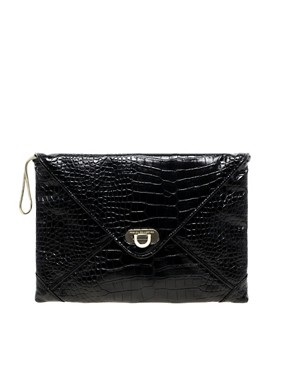 Image 1 ofFrench Connection Snake Clutch Bag
