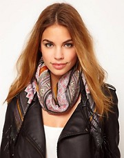 See U Soon Lurex Paisley Scarf