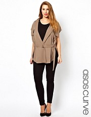 ASOS CURVE Waistcoat With Utility Detailing
