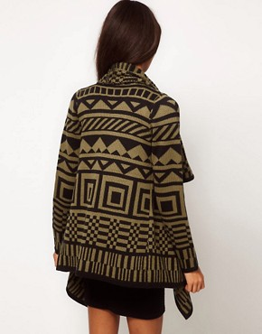 Image 2 of ASOS Blanket Wrap Cardigan