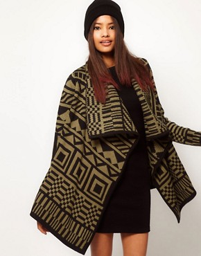Image 1 of ASOS Blanket Wrap Cardigan