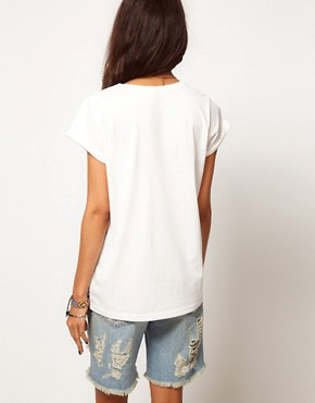 Image 2 ofASOS T-Shirt with Baroque Panel