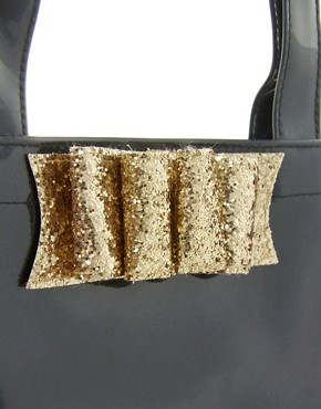 Image 4 ofTed Baker Twinkit Glitter Bow Small Icon Bag