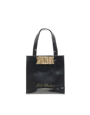 Image 1 ofTed Baker Twinkit Glitter Bow Small Icon Bag