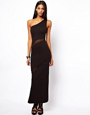 Quontum One Shoulder Maxi Dress