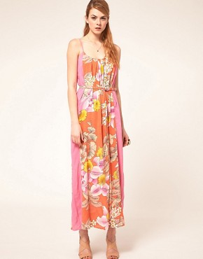 Image 1 ofWarehouse Eastern Tropic Dress