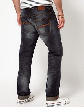 Image 2 ofNudie Jeans Hank Rey Straight Fit Indigo Depth