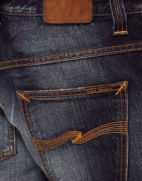 Image 3 ofNudie Jeans Hank Rey Straight Fit Indigo Depth