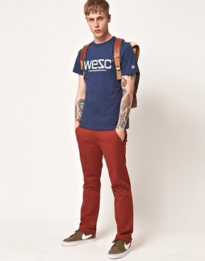 Image 4 ofWESC Eddy Slim Fit Chinos Exclusive To Asos