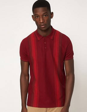 Image 1 ofBen Sherman Stripe Polo Shirt