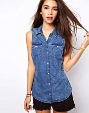 Only Washed Chambray Shirt
