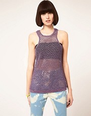 House of Holland Knitted Lurex Tank