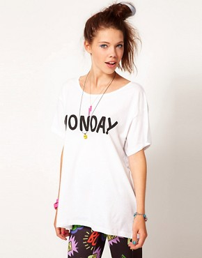 Image 1 ofLazy Oaf Monday Slob T Shirt