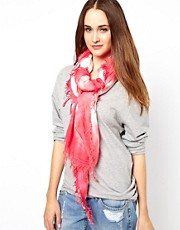 French Connection Tropical Tie Dye Scarf