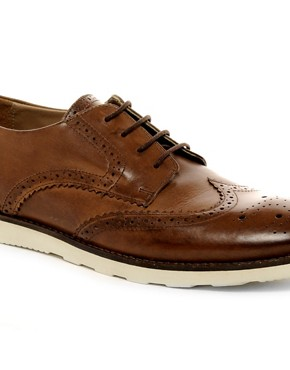 Image 2 ofASOS Brogues With Wedge Sole