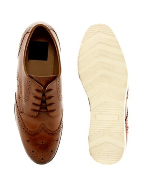 Image 3 ofASOS Brogues With Wedge Sole