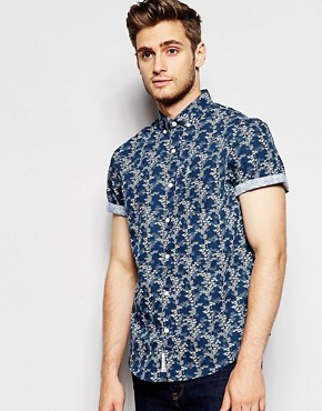 Original Penguin Short Sleeve Floral Print Shirt