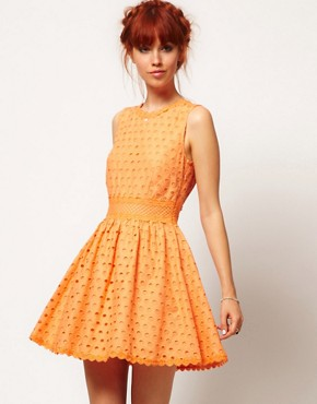 Image 1 ofASOS SALON Skater Dress in Anglaise