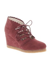 F-Troupe Wedge Lace Up Ankle Boots