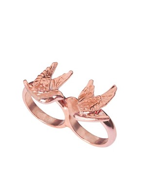 Image 1 ofASOS Swallow Double Finger Ring