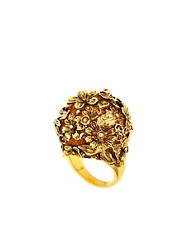 Anillo con bola floral de Bill Skinner