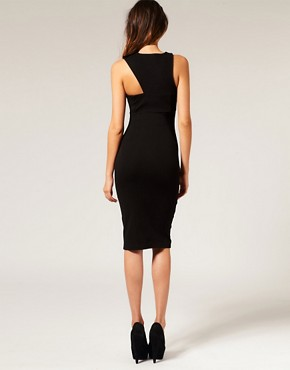 Image 2 ofASOS Pencil Dress with Cut Out Shoulder