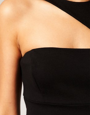 Image 3 ofASOS Pencil Dress with Cut Out Shoulder