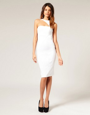 Image 1 ofASOS Pencil Dress with Cut Out Shoulder