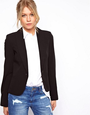 Bild 1 von ASOS  Kurz geschnittener, figurbetonter Blazer