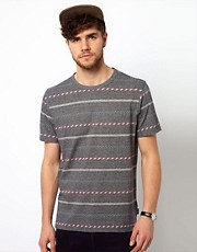 Paul Smith Jeans T-Shirt with Tribal Stripe
