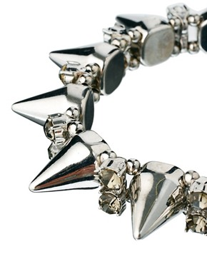 Image 3 ofASOS Spike &amp; Stone Stretch Bracelet