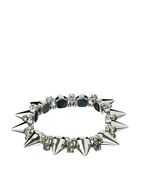 Image 1 ofASOS Spike &amp; Stone Stretch Bracelet