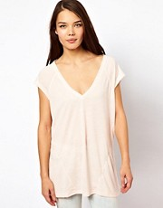 Somedays Lovin Easy Go Deep V Neck T Shirt