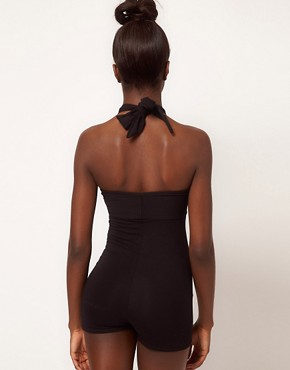 Image 2 ofAmerican Apparel Cross Front Playsuit