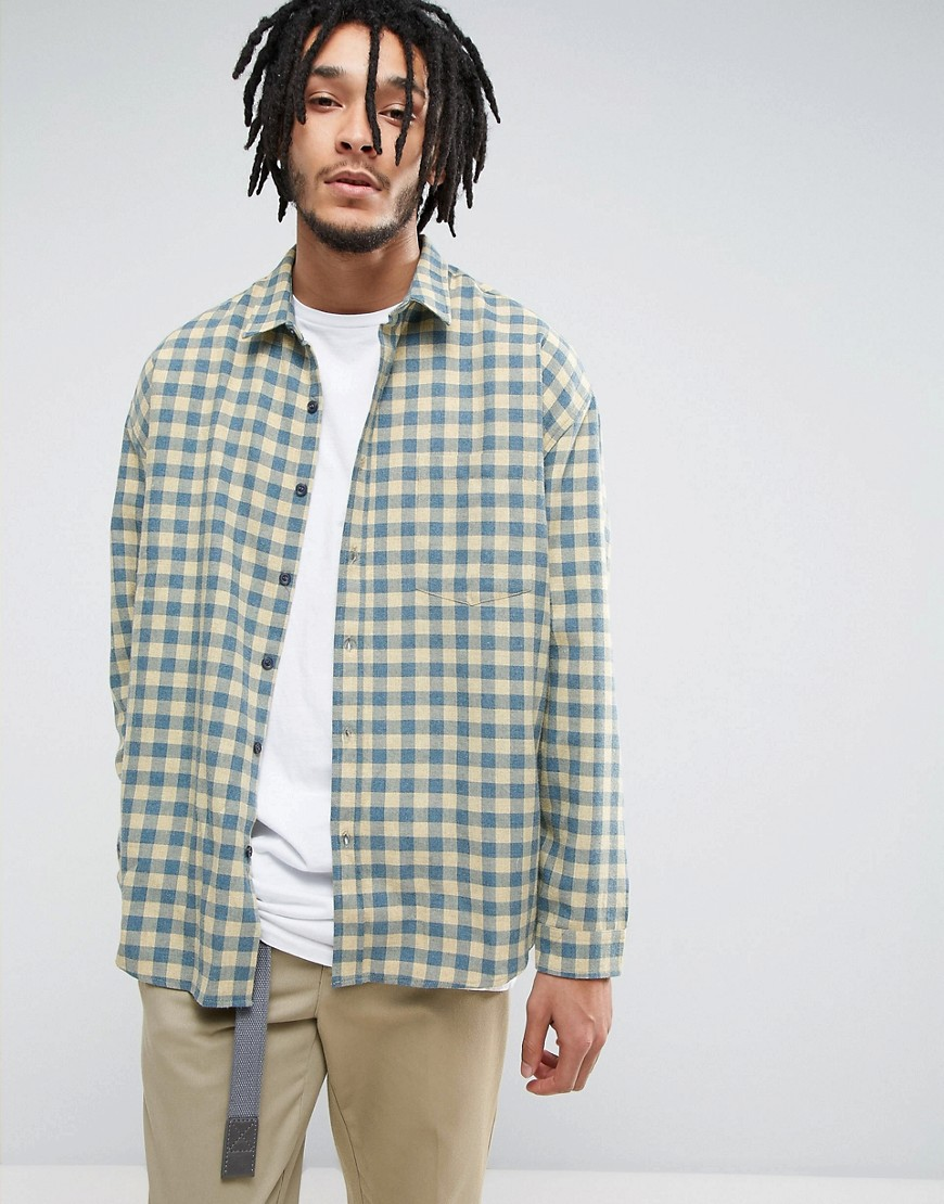 Zeffer Skater Fit Flannel Shirt - Yellow