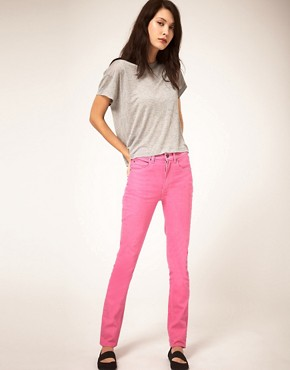 Image 4 ofCheap Monday Second Skin Skinny Jeans With High Waist