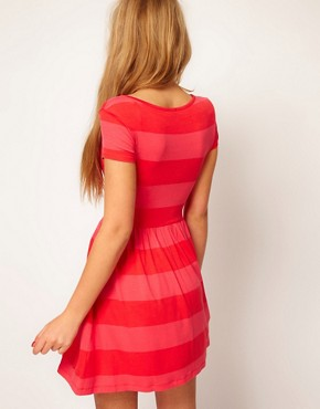 Image 2 ofASOS Skater Dress In Wide Stripe