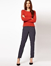 ASOS Pants in Geo Print With Elastic Waistband