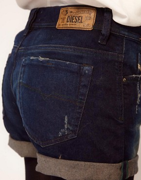 Image 3 of Diesel Distressed Denim Shorts
